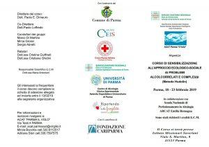 elenco relatori al corso ACAT di sensibilizzazione all'approcio ecologico sociale